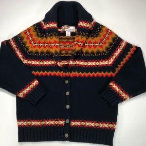 VTG Melbourne Country Stripe Pattern Wool Blend